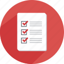 checklist, document, list, meeting, paper, safe, statistics icon