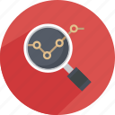 glass, magnify, magnifying, meeting, search, statistics icon