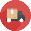 box, delivery, handling, map, shipping, shopping, truck icon