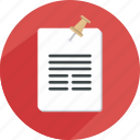 document, list, note, paper, reminder, schedule icon