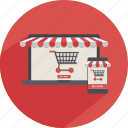 cart, commerce, discount, product, store, storefront, supermarket icon