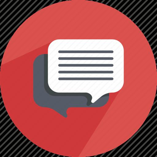 bubble, chat, conversation, dialog, dialogue, speech, speechbubble icon