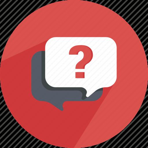 bubble, chat, conversation, dialog, question, sale, speech icon