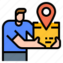 parcel, logistic, shipping, trace, tracking icon