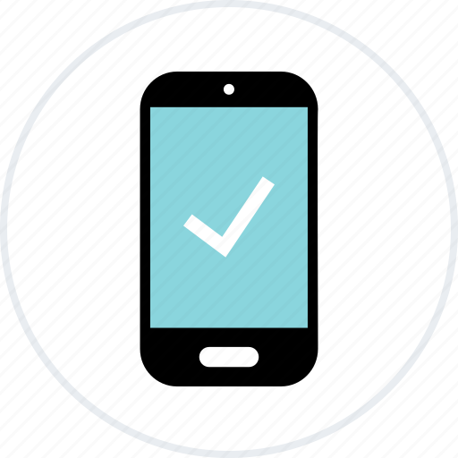 approved, cell phone, check mark, good, mobile, ok, shopping icon