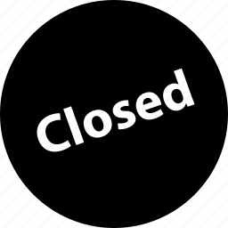 closed business, closed sign, no business, not open, shopping icon