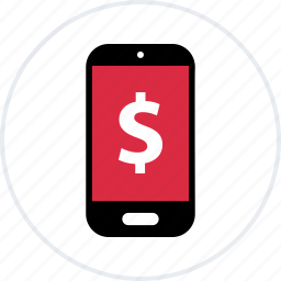 android, dollar, iphone, mobile, pay, sign icon