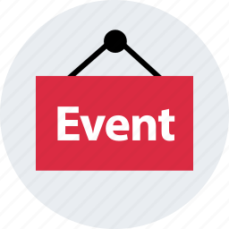 business, event, hang, outside, sign, store icon