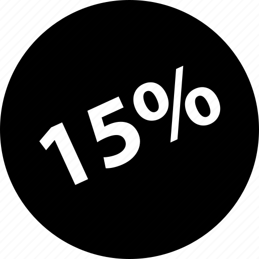 fifteen, guardar, off, percent, save, store, wide icon