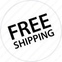free, goods, merchandise, products, shipping, tag icon
