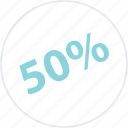 big, half, off, percent, save, savings icon