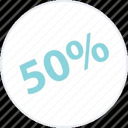 big, guardar, half, off, percent, save, savings icon