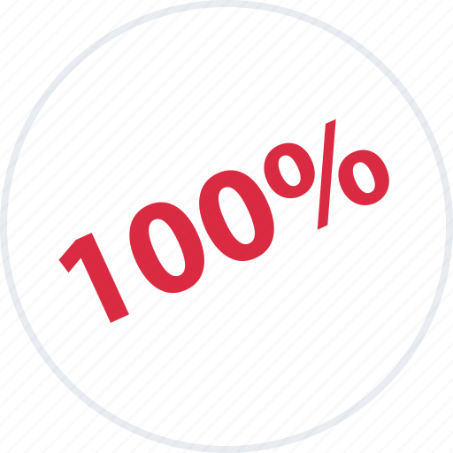 hundred, off, one, percent, save, savings icon