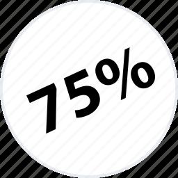 five, off, percent, seventy icon