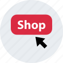 arrow, click, mouse, online, shop, track icon