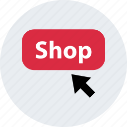 arrow, click, mouse, online, shop, track icon