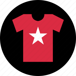 business, graphic, new, shirt, star, tee icon