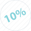 off, online, percent, save, savings, ten icon