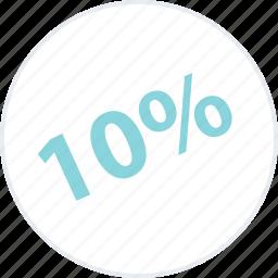 guardar, off, online, percent, save, savings, ten icon