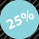 interest, percent, quarter, save, savings, twentyfive icon