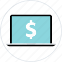 business, dollar, money, online, revenue, sign icon
