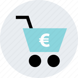 add, cart, euro, online, shop, shopping, web icon