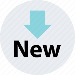 add, arrow, down, item, new, sign icon