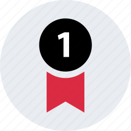 award, business, number, one, ribbon, satisfacion icon
