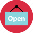 business, sign, online, now, open, store