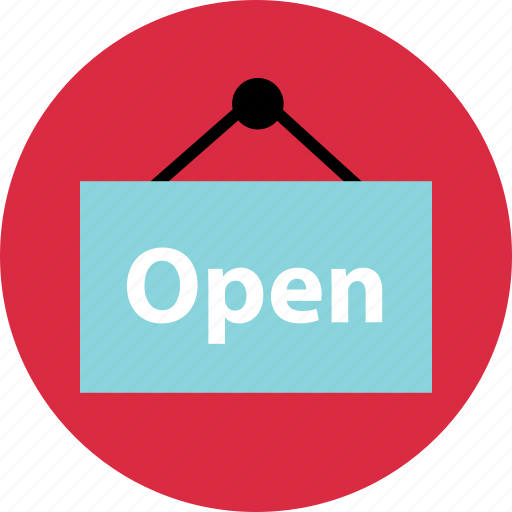 business, now, online, open, sign, store icon