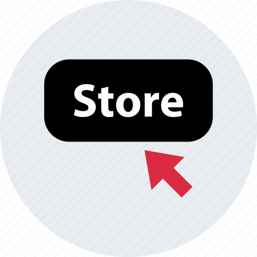 amazon, arrow, click, mouse, store, web icon