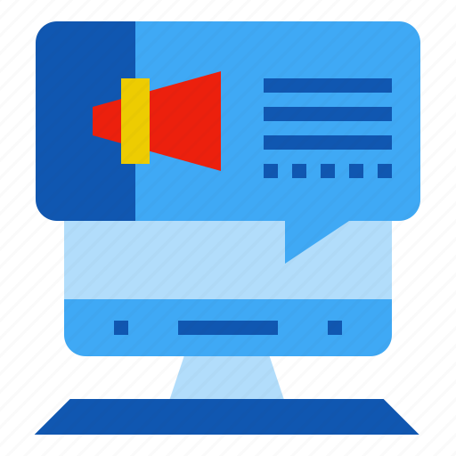 advertising, broadcast, computer, marketing icon
