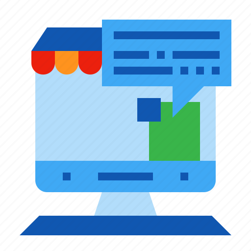 chat, conference, ecommerce, online icon