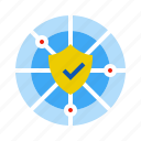 firewall, protection, safety, verified icon