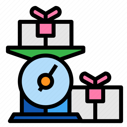 box, package, weighing, weight icon