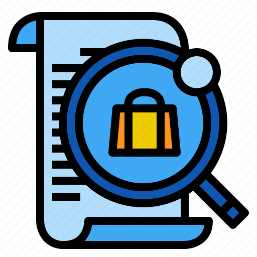 find, magnifying, product, search icon