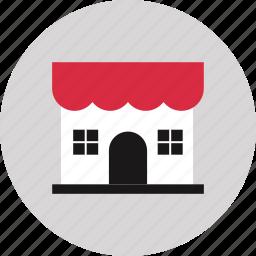 front, liquor, mompop, shop, store icon