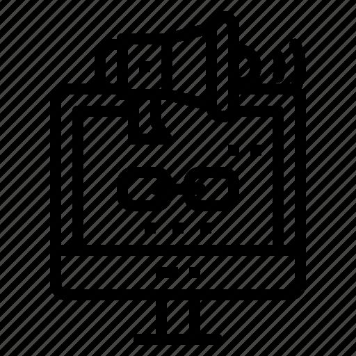 link, megaphone, promote, shopping, valentine icon