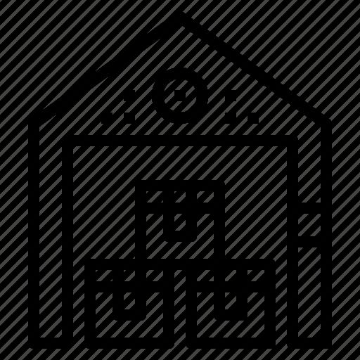 box, storage, store, valentine, warehouse icon