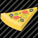 italian cuisine, italian food, junk food, meal, pizza, pizza slice icon