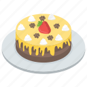 birthday cake, cake, confectionery, dessert, food, strawberry cake, sweet icon