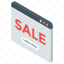 discounted purchase, online buy, online sale, online shop, shopping website icon