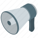 bullhorn, loudspeaker, megaphone, promotion, sound hailer, trumpet icon