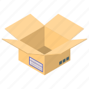 cardboard, cargo box, package, package box, parcel icon