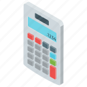 accounting, adder, calculating device, calculator, mathematical tool, number cruncher icon
