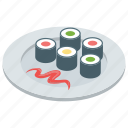 fish, food, japanese dish, seafood, sushi icon