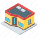 architecture, home, house, modern house, shop, urban house icon