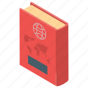 atlas book, booklet, geography, global book, world atlas icon