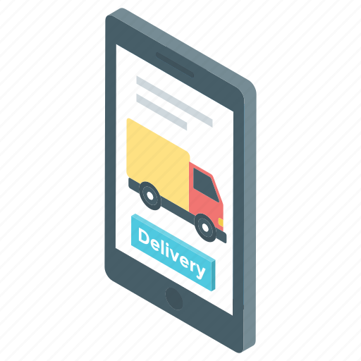 delivery services, ecommerce, mobile shopping, online delivery, online shopping icon