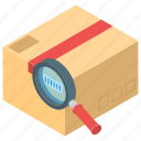 barcode reader, courier delivery, package delivery, parcel scanning icon